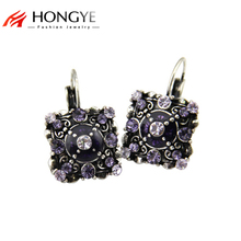 цены на Free Shipping Min Order $10 (Mix Order) New Arrival Vintage Women Magic Square-shaped Crystal Statement Drop Earrings Jewelry  в интернет-магазинах