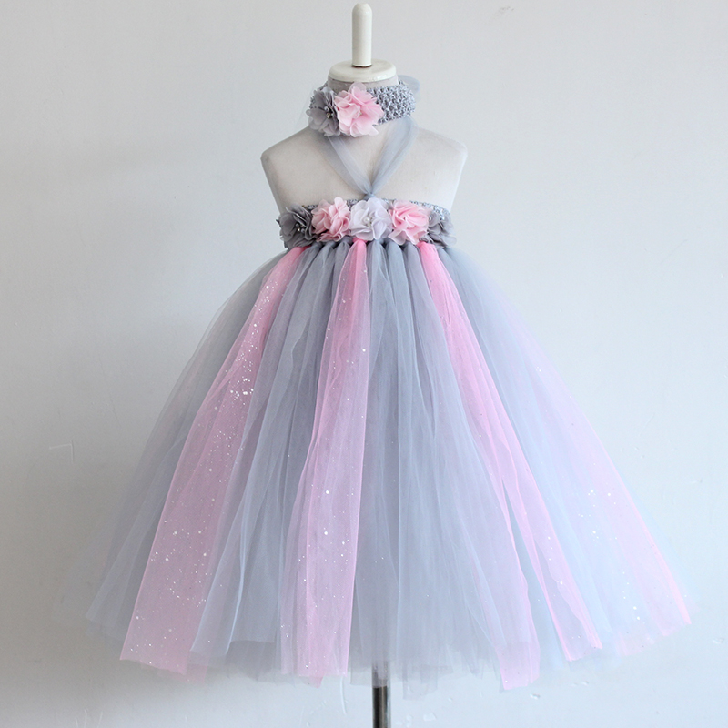 de98d8a3a 2016 New Year Flower Girls Fashion Party Princess Dress Children ...