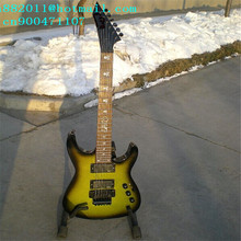 free shipping wholesale and retail music instrument new double wave electric guitar+foam box F-1743