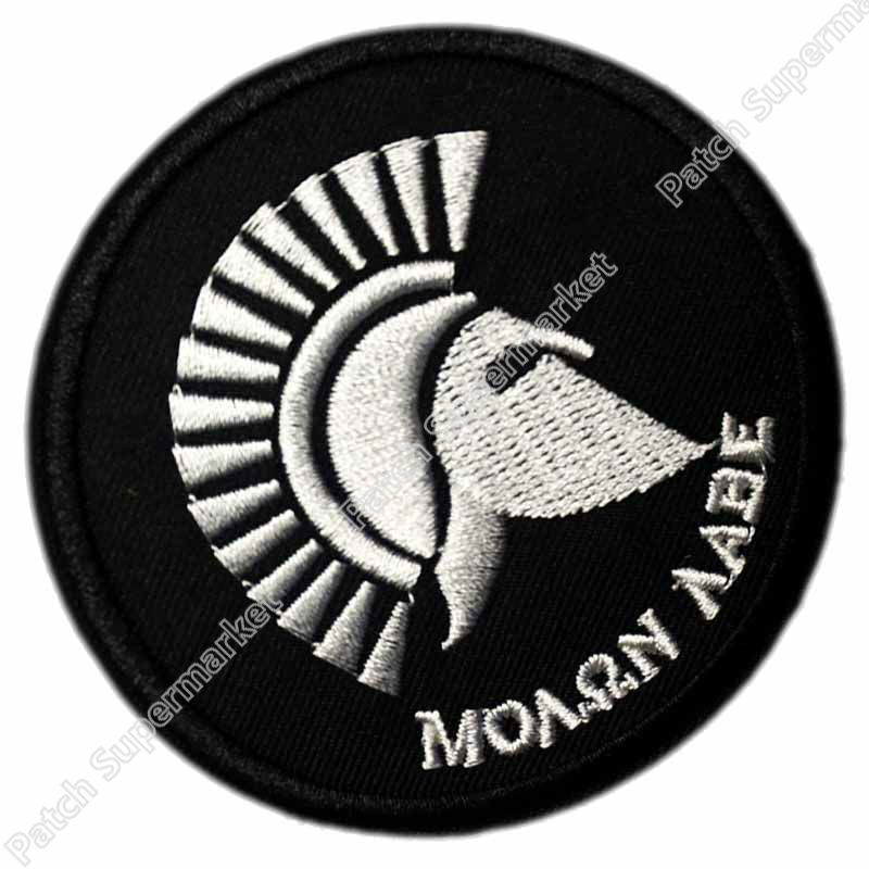 BLACK Spartan Molon Labe Come and Take MORALE Movie Embroidered LOGO Iron On Patch Customized patch