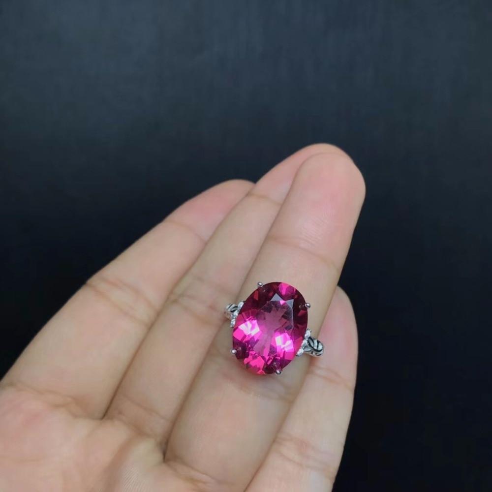 Bague topaze naturelle 10 carats Uloveido, belle couleur, argent 925, forme d'oeuf de colombe, le propriétaire a recommandé bague pour dames 20% FJ316
