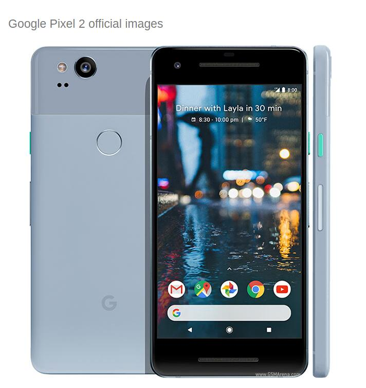 Original Unlocked US Version Google Pixel 2 Octa Core 4GB RAM 64GB/128GB ROM 1920x1080 Smartphone 4G LTE 5.0 Inch Mobile Phone