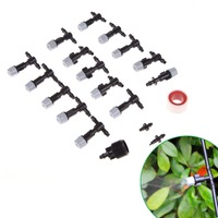 Garden Mist Cooling System 15 Pieces Sprayers Nozzles 10m Micro Sprayer Water Spray Mist Nozzle High