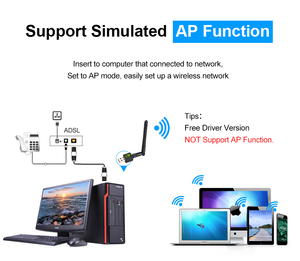 Image 2 - Ralink antena WiFi Lan, USB Ethernet, 150M, 2dB, PC, llave electrónica inalámbrica, tarjeta de Notework, receptor USB, Wi Fi