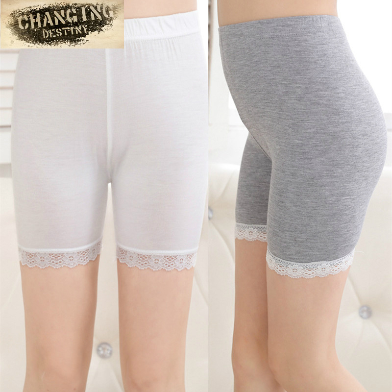 110-150cm Little Girl Safety Pants Elastic Breathable Children's Lace Shorts and Cotton Leggings Girls' Pants camouflage style lace up slimming elastic cuffs narrow feet men s cotton blend harem long pants