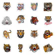 ZOTOONE Iron on Heat Transfer Patches for Clothing Flower Tiger Applique Baby Clothes DIY Decoration Biker E