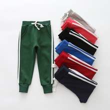 2017 children  trousers boys spring autumn Striped casual outwear trousers girls soft kids clothes children pants boys pants