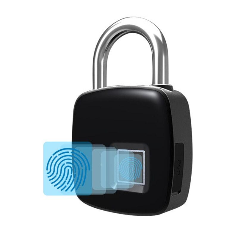Serrure d'empreinte digitale intelligente Bluetooth sans clé Anti-vol serrure d'empreinte digitale pour casier de valise DC120