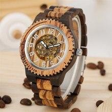 Houten Horloges Winding Mechanische