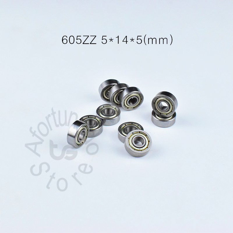 605 605ZZ  5*14*5(mm) 10pieces Bearing Free Shipping ABEC-5 Bearings Metal Sealed Bearing Chrome Steel Bearing 605 605Z 605ZZ