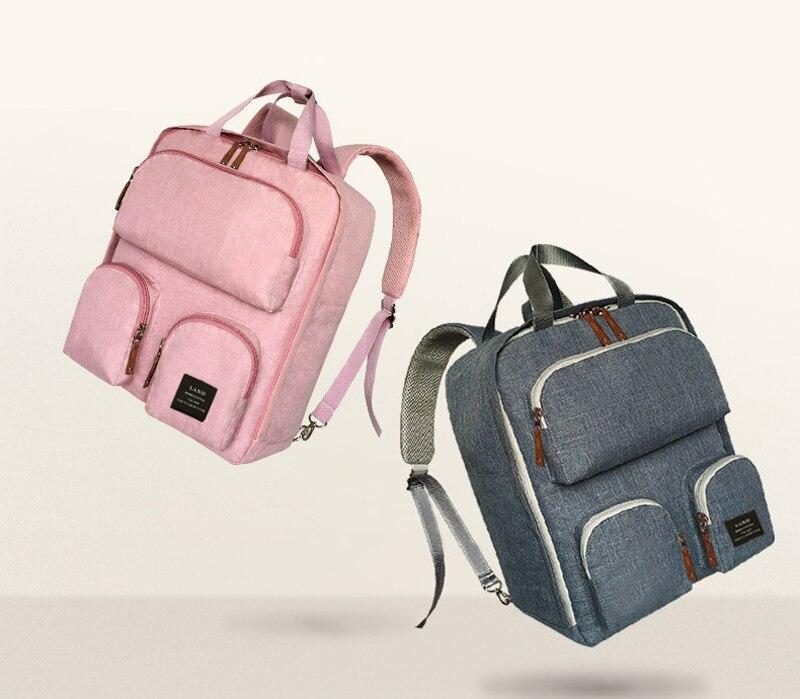 Nouveau sac à langer multifonctionnel élégant imperméable unisexe bébé sac à langer sac à dos avec crochets de poussette-0505