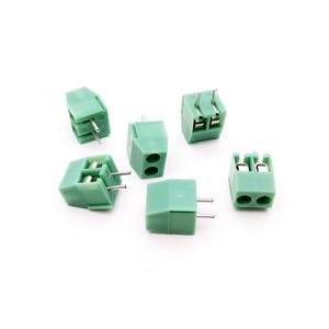 Высокое качество 100 шт./лот KF350-3.5-2p 3,5 мм Шаг медный зеленый PCB винтовой клеммный блок соединители 300В/10А