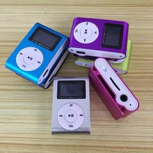 Stylish compact portable button type screen clip card metal shell MP3 player student music Walkman
