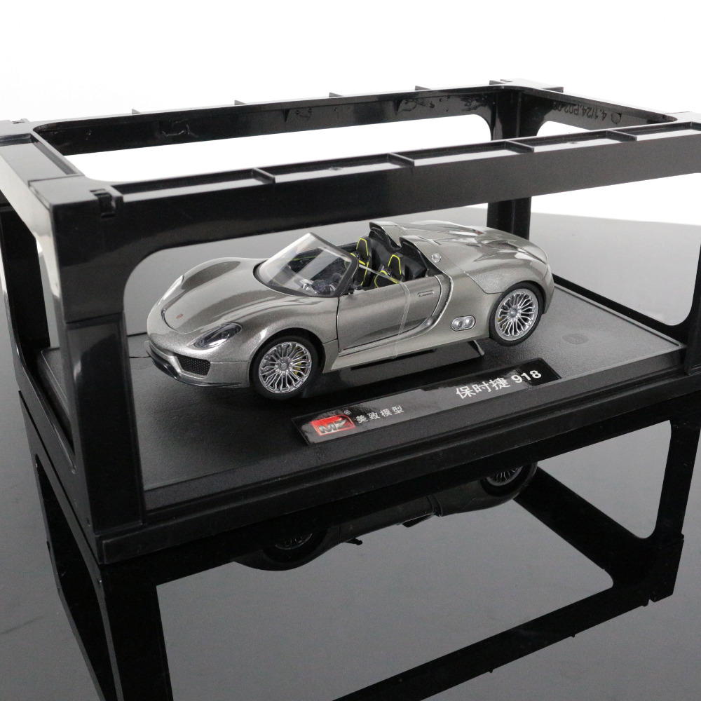 1:24 Scale Diecast Car Model For Porsche 918 High Simulation Plastic Metal Sport Car Model Collection Decoration Birthday Gift maisto jeep wrangler rubicon fire engine 1 18 scale alloy model metal diecast car toys high quality collection kids toys gift