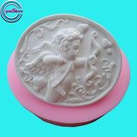 Cupid tasarım oval silikon sabun kalıpları diy 3d silikon kalıp sabun için
