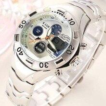 Marca de lujo de Las Mujeres Relojes Deportivos Reloj Militar Digital LED Impermeable Al Aire Libre Ocasional Del Relogio masculino