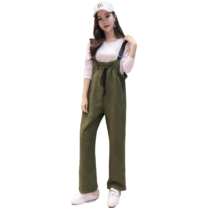 Winter Pregnancy Sweatpants Warm Overalls Plus Velvet Clothing Maternity Clothes For Pregnant Women Pregnancy Jumpsuit цена