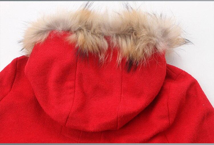 Femmes Poncho Noël hiver Royaume Capuche De Cape Rouge Femininos Nouvelle Manteau uni 2019 Fourrure Mode Automne Laine Casaco Femme À dzzqr0