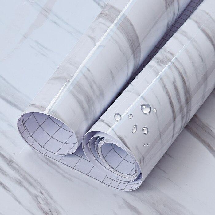 3 M/5 M/10 M Marmo Carta Da Parati autoadesiva Peel & Stick Rimovibile Adesivi Murali Pietra Per Controsoffitto della cucina Bagno Soggiorno