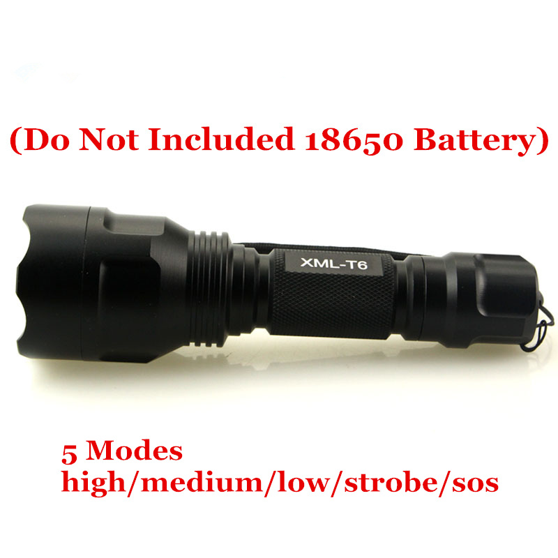 Portable light Power led flashlight 5000 Lumens Cree XML T6 Led torch lanterna 18650 battery Rechargeable bike camping
