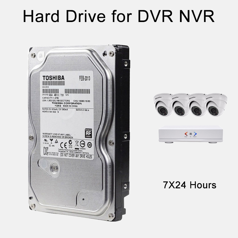500G 1TB 2TB 3TB 4TB Video Surveillance HDD 3.5 Internal Hard Disk Drive SATA 6Gb/s for Computer laptop DVR NVR CCTV System cctv accessories 3 5 inch 1000g 1tb 7200rpm sata pc hdd surveillance hard drive disk internal hdd for dvr security system