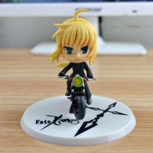 10cm Cute Cartoon PVC Collection Action Figure Fate Stay Night Saber Interchangeable Nendoroid 121# Q Version Anime Model Doll