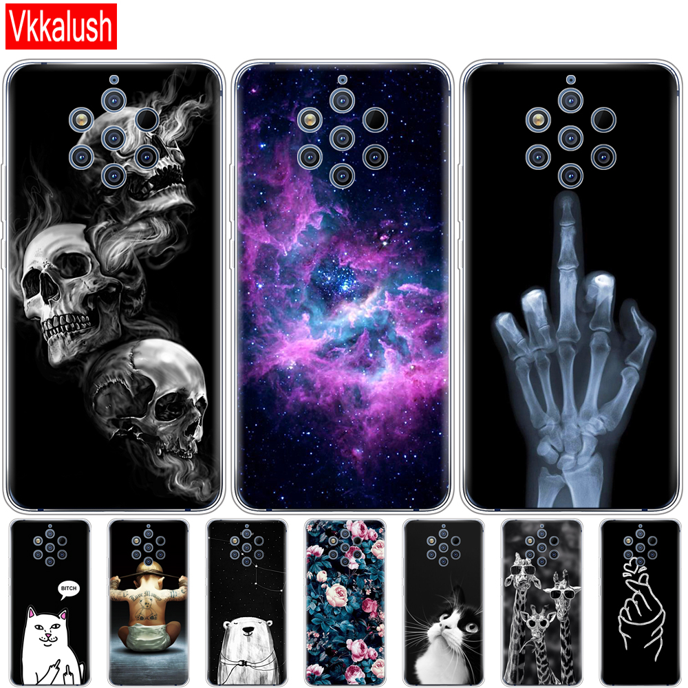 Case For Nokia 9 PureView Case Back Cover For Nokia 9 Pure View Phone Cases Silicon Bumper For Nokia 9 PureView Bumper Cartoon
