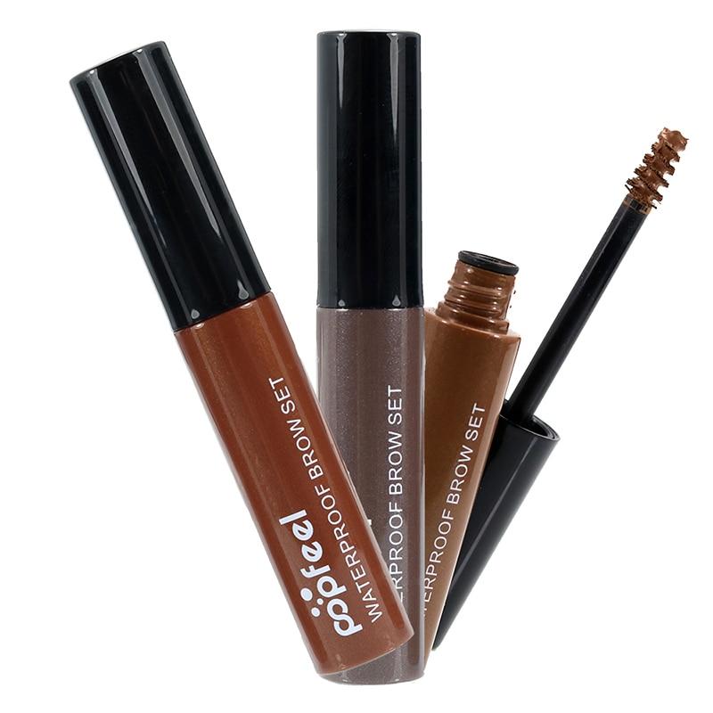 popfeel Waterproof Makeup Eyebrow 4 Color My Brows Gel Long Lasting Light Medium Dark Brown Eyebrow Tattoo Dye Gel maquillaje