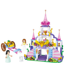 купить Girls Princess Castle Violet Royal Carriag Car Building Blocks Sets Legoings Friends Model Bricks Kids Toys Gift по цене 1366.16 рублей