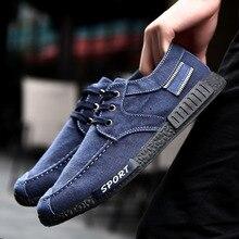Ming Dai Marca Hombres Zapatos Casual Zapato de Lona Para Hombre Zapatos Hombre Chaussure Sapatos Verano Otoño Hombre Con Cordones Retro ventas de Mezclilla