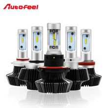 2*pcs 9005 9006 9007 H1 H4 H7 H11 H13 Led Car Headlight Bulb with Ballast High Low Beam 12v 50W 8000LM Automobile Light Headlamp