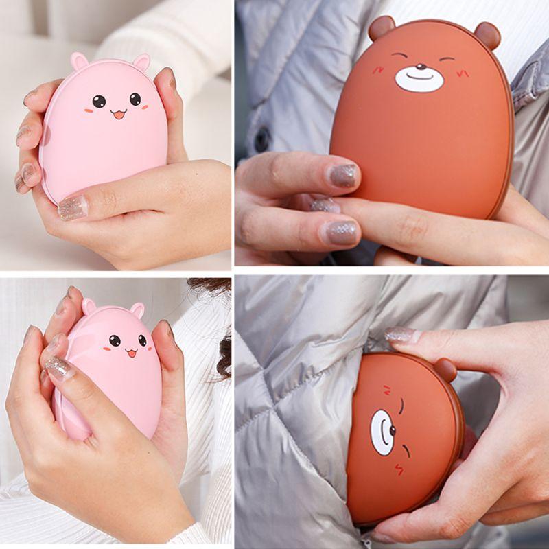 Cute Bear USB Hand Warmer Portable Charging Fever Heater Small Handy Pocket