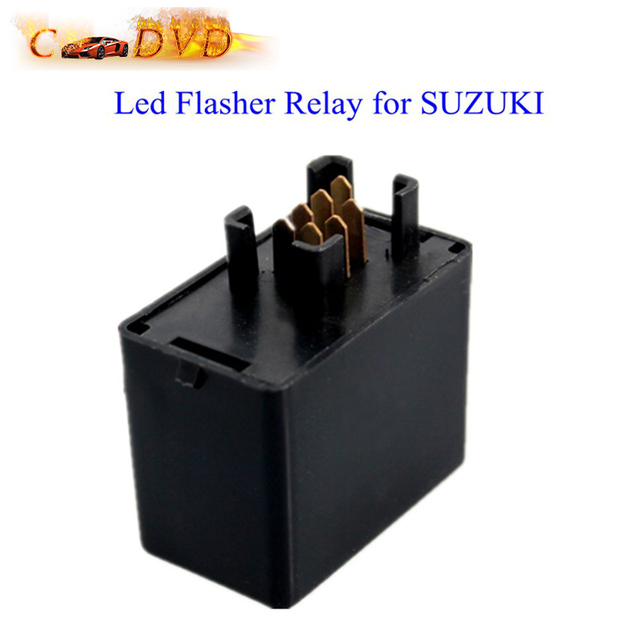 12 V 7 Pin Led Flasher Relais voor SUZUKI GSXR GSF GSX Gratis Verzending
