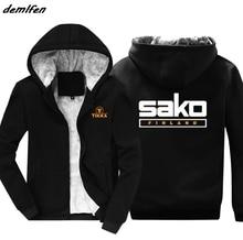 Hot Sale Fashion New Tikka By Sako Finland Firearms Logo hoodies Mens Sweatshirt Casual winter zipper Keep warm Jacket hoody