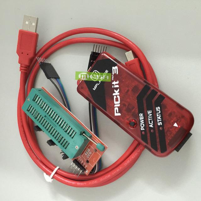 O envio gratuito de Programador PICKIT3 + Adaptador de Programação PIC ICD2 PICKit 2 PICKIT 3 Programador Universal Assento