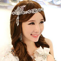 1920s Vintage Hair Accessories Pearl Crystal Crown New Great Gatsby Headpiece Jewelry Wedding Bridal Leaf Headband With Ribbon
