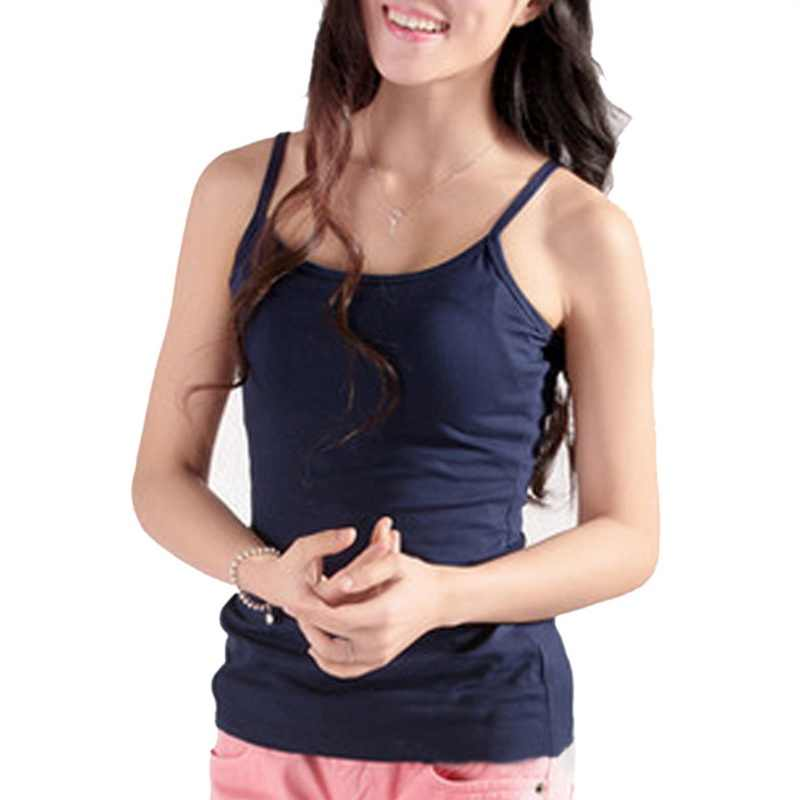 9469f8c477 LASPERAL Sexy Top Women Sleeveless Spaghetti Strap Casual Vest Summer  Elastic Slim Camis Candy Color Tank