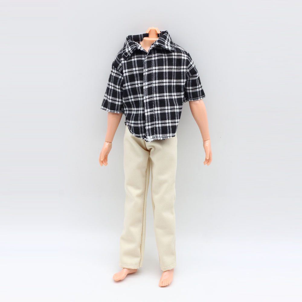One Set Doll's Clothes For Barbie Ken Doll Casual Wear Plaid Clothes Jacket Pants Trousers ken browne sociology for as aqa