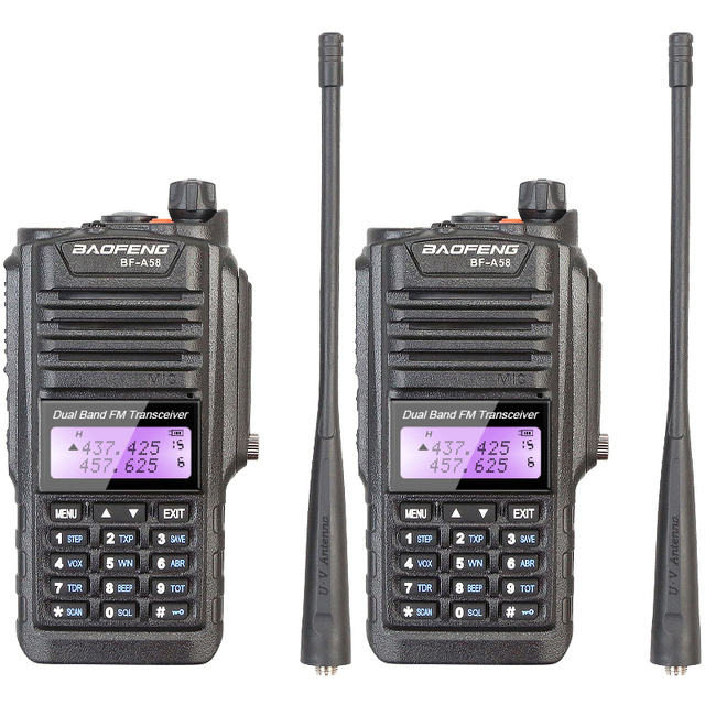 Водонепроницаемый IP-57 Baofeng 2 разъём(ов) радио BF-A58 5 Вт трансивер 1800 мАч с наушником