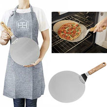 Aço inoxidável antiescalda pizza espátula bandeja 10 polegada placa de pizza prato redondo bolo pá forno cozinha cozimento pastelaria ferramentas