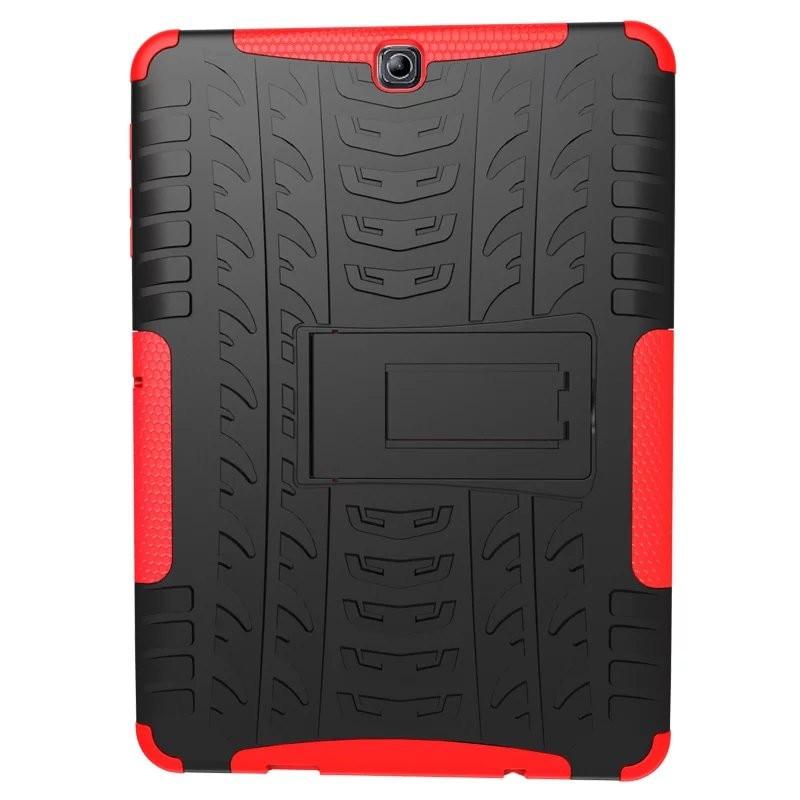 Heavy Duty Armor Tire Style Hybrid TPU PC Hard Cover Case For Samsung GALAXY Tab S2 9.7