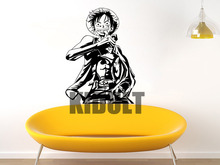 Luffy One Piece Anime Character Wall Stickers Decals Vinyl Children's Study Room Bedroom Home Decorative Wall Art Paintings
