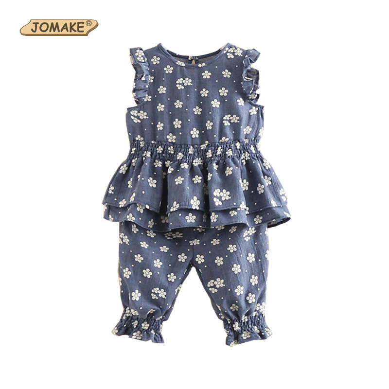 Girls Clothes Summer 2018 Floral Girls Clothing Sets Children Princess Costume For kids Casual Girl Suits Blouse+Shorts 2Pcs Set famous brand girl clothes sets fashion girls summer flowers set clothes girls suits kids blouse shorts children clothing set