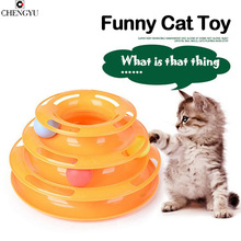 Новая распродажа Нескользящие оригинальный дизайн развлечений разведки кота собаки игрушки три башни треков проигрыватели шары зоотовары