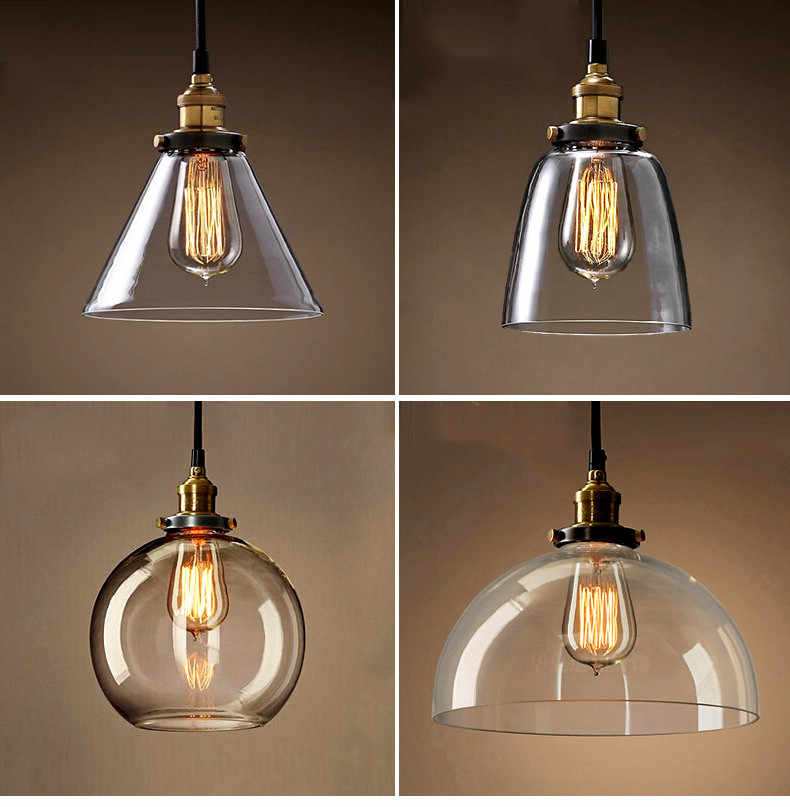 Скандинавские винтажные подвесные светильники стеклянная лампа Лофт кухня столовая освещение ретро кафе бар ресторан подвесной светильник Промышленный светильник