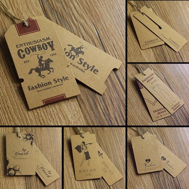 Eccezionale Personalizzato/kraft prezzo della carta hang tag per abbigliamento  EJ54