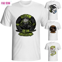 OW T Shirt Genji Hanzo Reaper Tracer Game Hero Style Cool Fashion Casual Novelty Tshirt Design