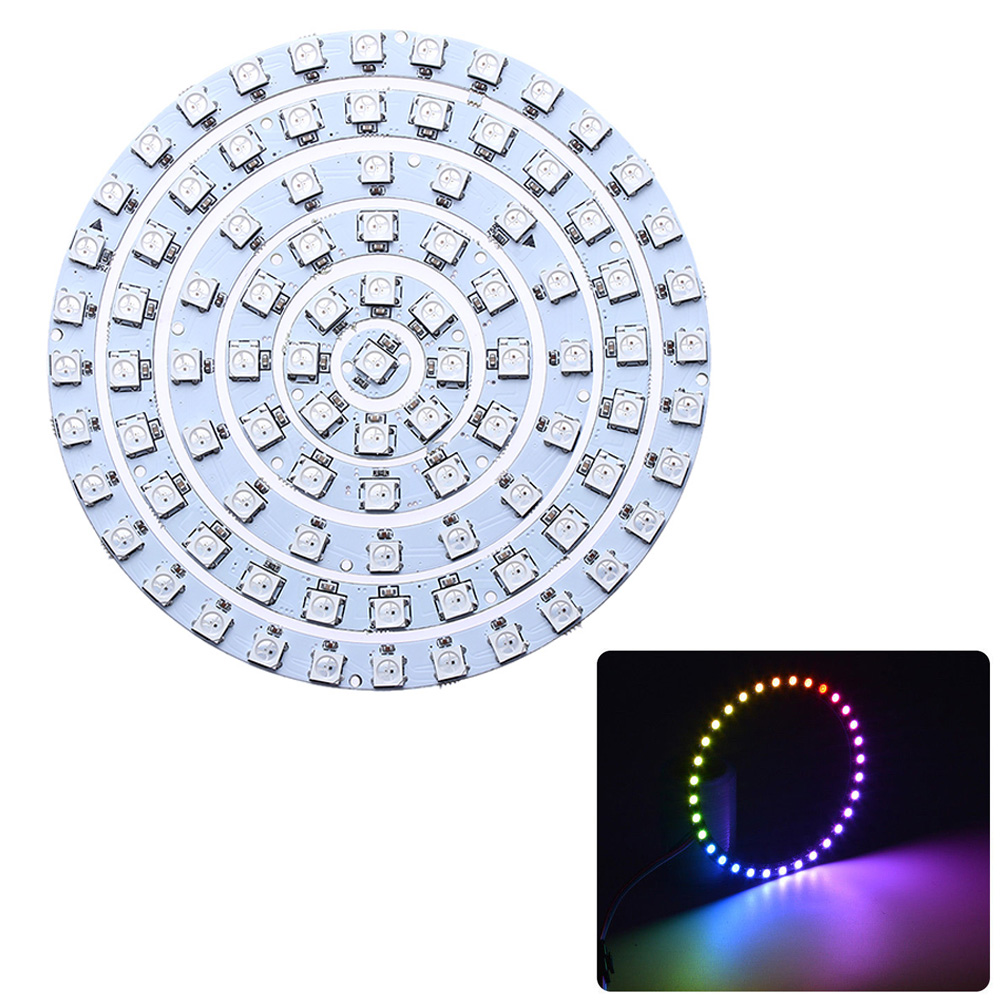 1pc Addressable Ws2812b Pixel Ring 1 8 12 16 24 32 Leds Ws2812 5050 Rgb Led Ring 1-32bit Built-in Rgb Dc5v Integrated Drivers Orders Are Welcome. Led Lighting