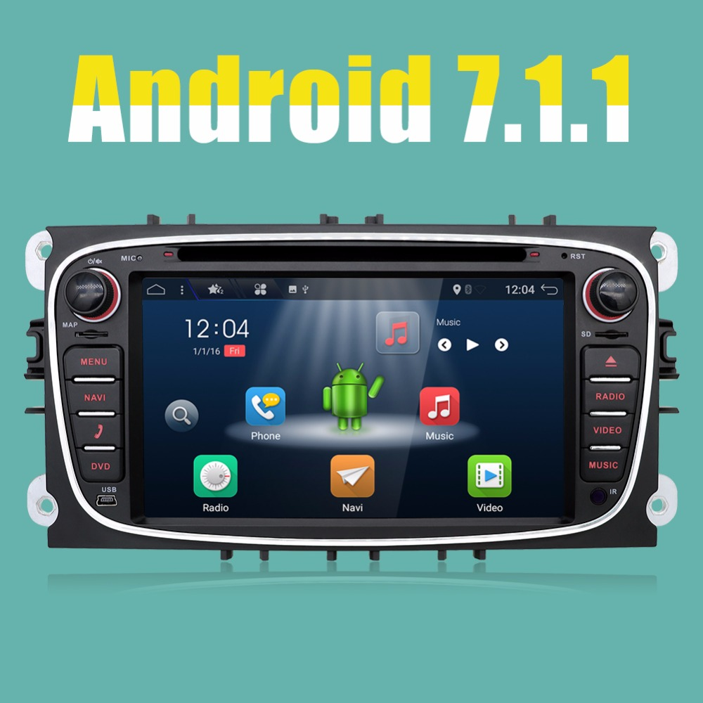 Android 7.1 2 Din 7 Inch Car DVD Player For FORD/Mondeo/S MAX ...