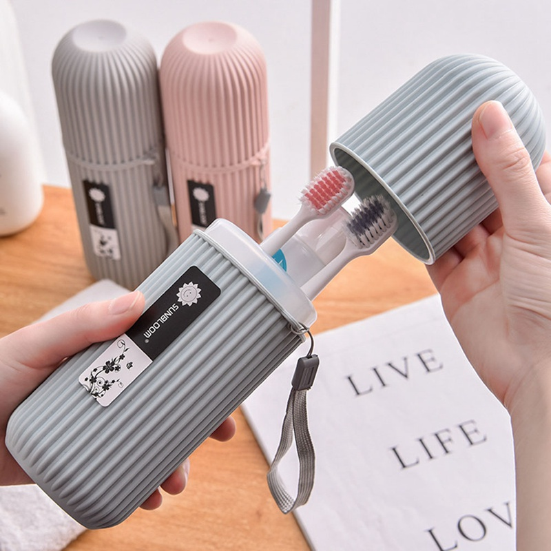 Portable Travel Toothpaste Toothbrush Protect Holder Cap Case Travel Camping Toothbrush Storage Box Cover Household Storage New image